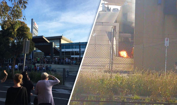 Melbourne EXPLOSION: Frankston Shopping Centre on fire just hours after car crash terror