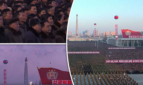 North Korea: WATCH moment thousands rejoice after Kim Jong-un's rocket launch