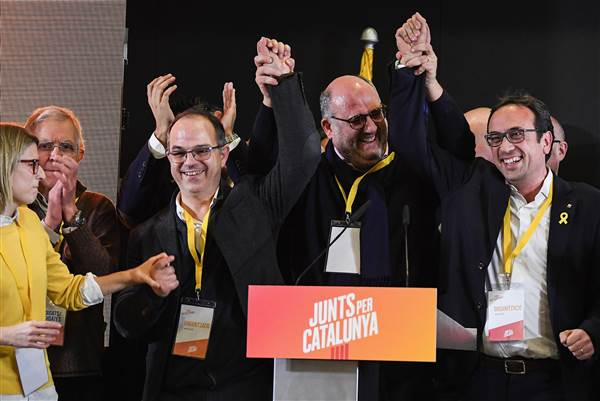 Catalan separatists win majority in election, in rebuke to Spain and EU