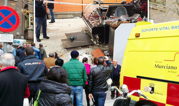 Christmas shopping horror: Explosion in Spain tourist town leaves several injured