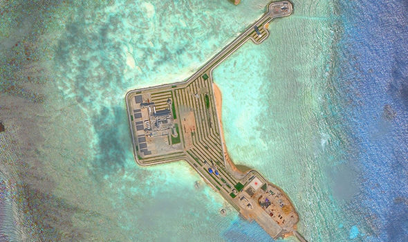 China build nuclear power plant on artificial island to conquer disputed South China Sea