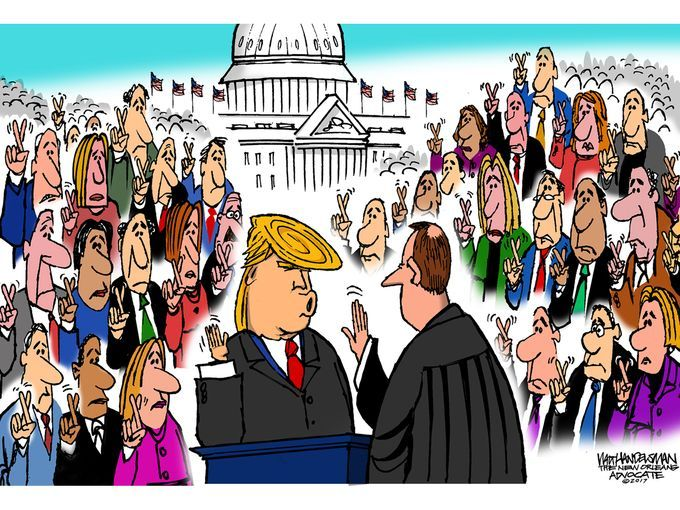 The top political cartoons of 2017