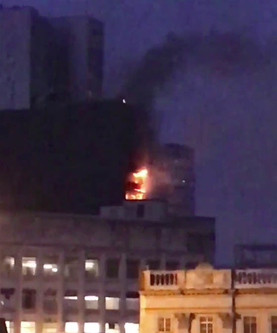 Manchester fire: Scores of firefighters tackling huge inferno engulfing tower block