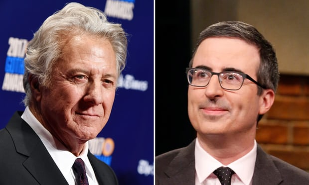 Dustin Hoffman confronted over abuse allegations by John Oliver at public Q&A