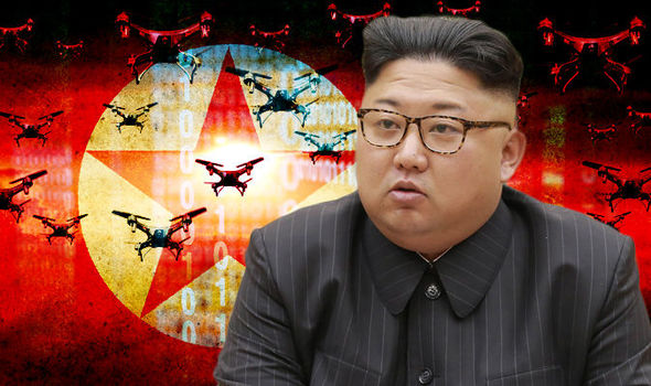 North Korea faces invasion by ROBOTS as South develops drone division to swarm Pyongyang