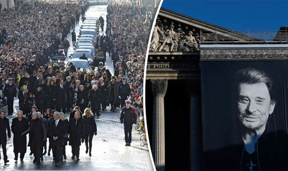Johnny Hallyday funeral sees more than 100,000 line Paris streets for incredible send off