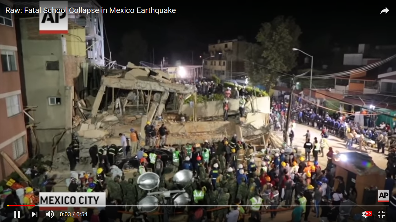 At Least 20 Children Killed After Earthquake Destroys Mexico City Primary School
