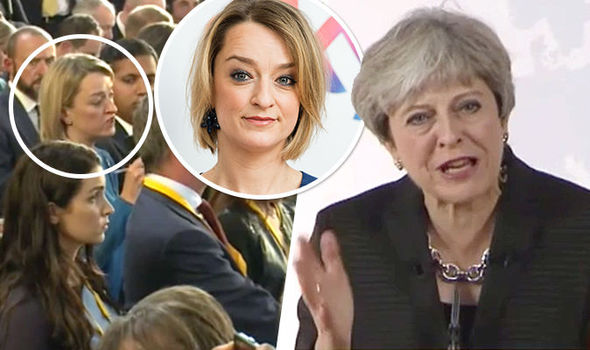 Theresa May fires back at BBCs Kuenssberg during HEATED exchange after Brexit speech