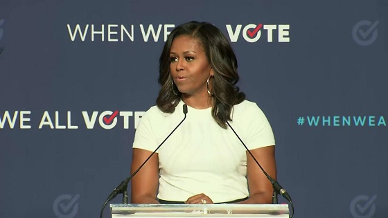 Michelle Obama: When they go low, we go high slogan absolutely still stands