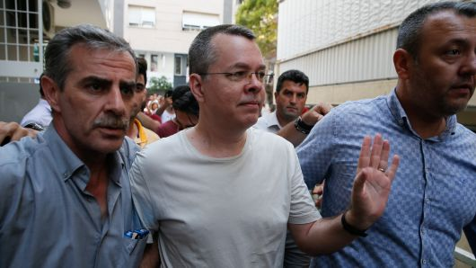Pastor Andrew Brunson released to US diplomatic personnel after being detained by Turkish authorities for two years