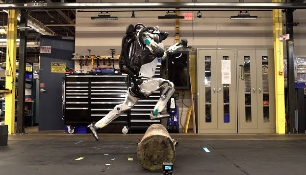 Watch Boston Dynamics humanoid robot leap up massive steps like its nothing