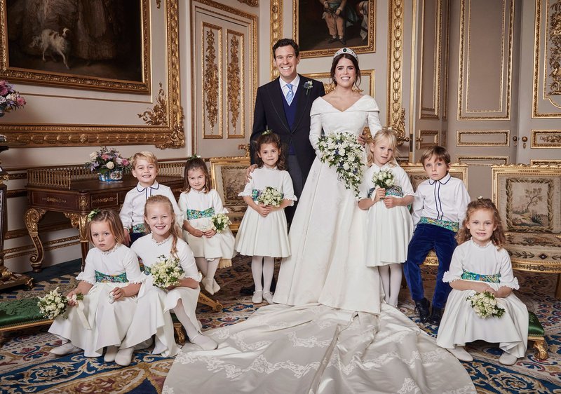 See All 4 Dazzling New Portraits from Princess Eugenies Royal Wedding in Exquisite Detail
