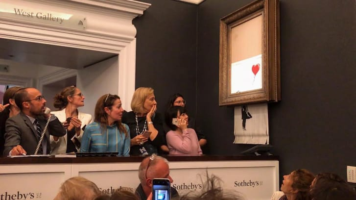 In rehearsals it worked every time: Banksy suggests self-destruct stunt didnt go as planned