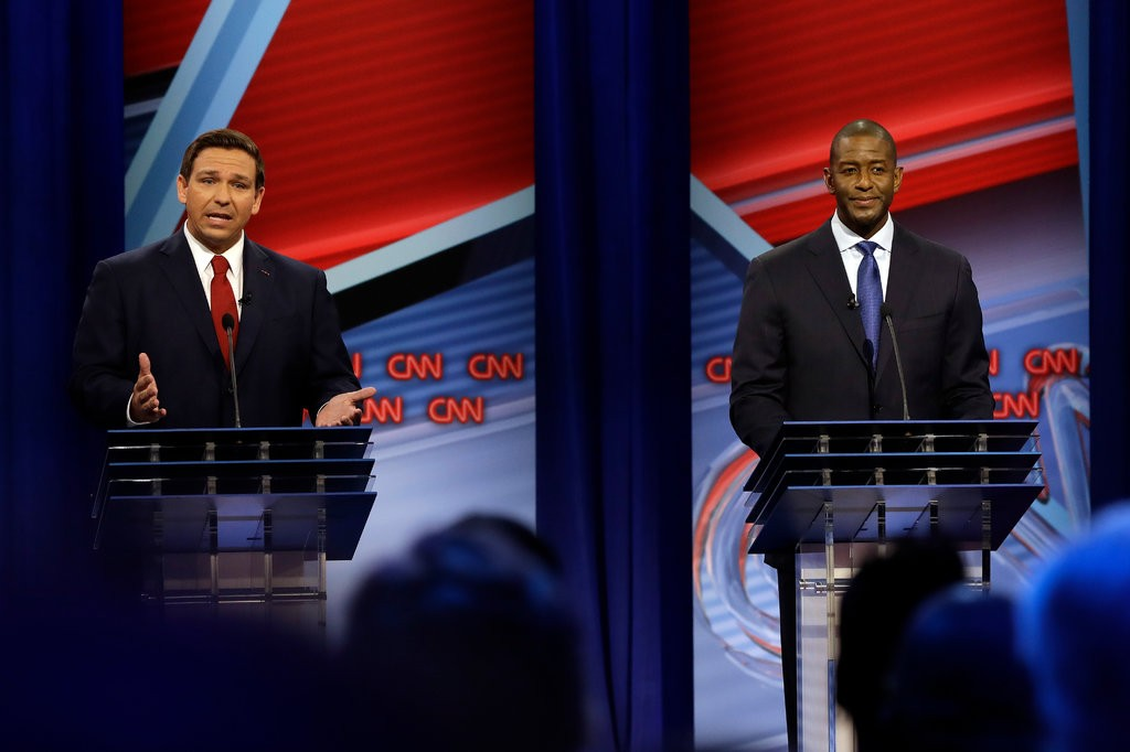 Florida Governor Candidates Andrew Gillum and Ron DeSantis Face Off in Contentious Debate