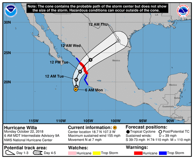 Hurricane Willa on verge of becoming Category 5 storm off Mexicos Pacific coast