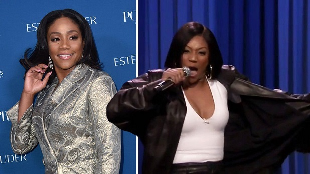 Tiffany Haddish slays James Brown impression in Jimmy Fallons Lip Sync Battle