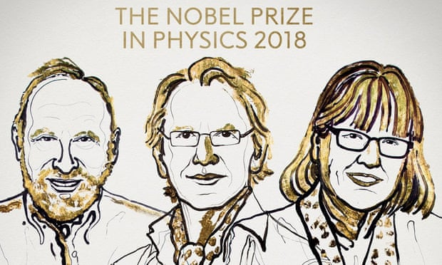 Physics Nobel prize won by Arthur Ashkin, Gérard Mourou and Donna Strickland