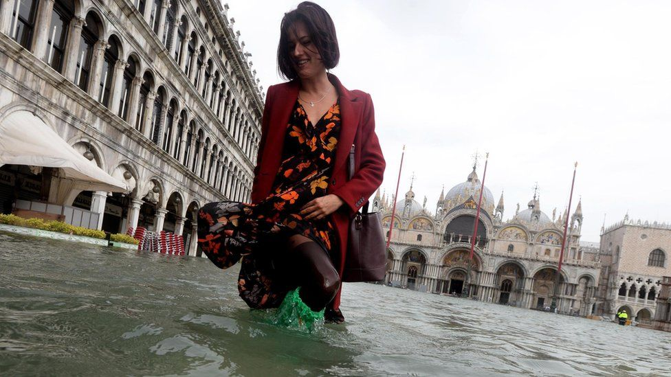 Venice under water as deadly storms hit Italy
