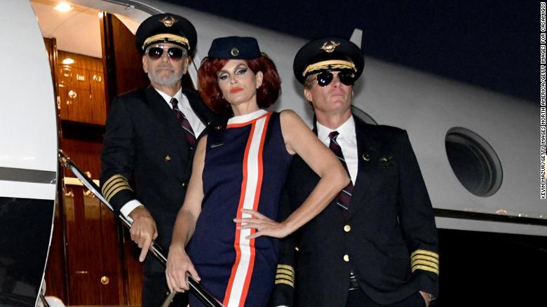 George Clooney wins Hollywood's Halloween