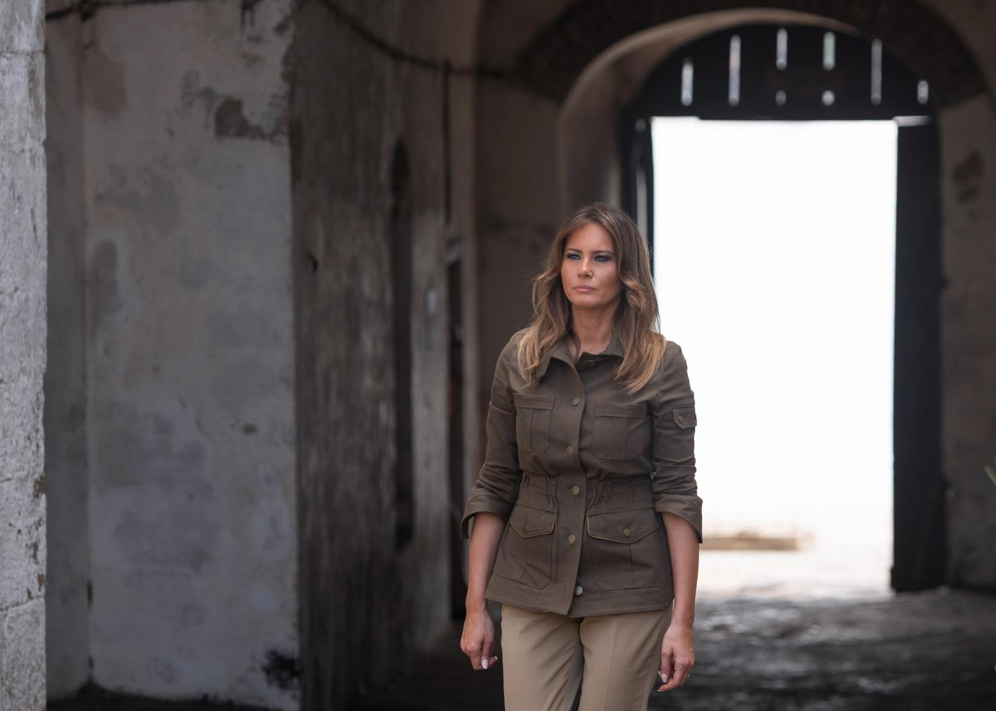 Watch: Melania Trump Is Very Honored to Visit Obama Hall and Former Slave Trading Fort Without President in Ghana