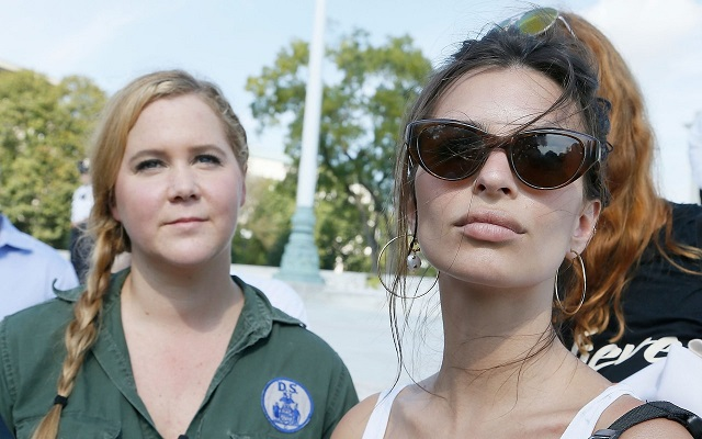 Amy Schumer and Emily Ratajkowski among 300 arrested in Kavanaugh protests