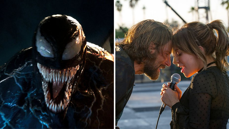 Weekend Box Office: Venom Heads for Massive $80M; A Star Is Born Singing to $40M-Plus