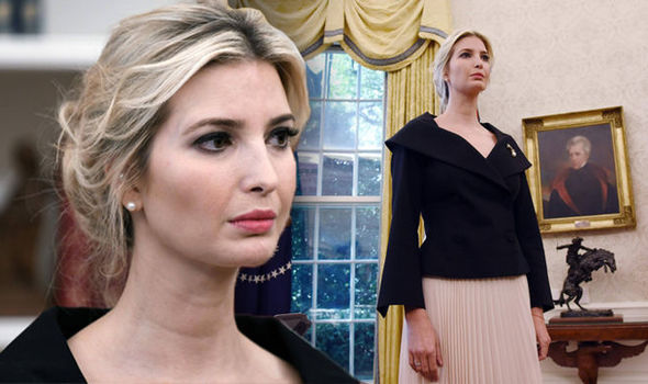 Ivanka Trump looks solemn as she listens in on Donald meeting after UN ambassador resigns