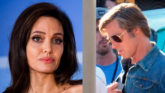 Angelina Jolie Emotional After Seeing Brad Pitt Embrace Hot Young Co-Star On Film Set: It Stings