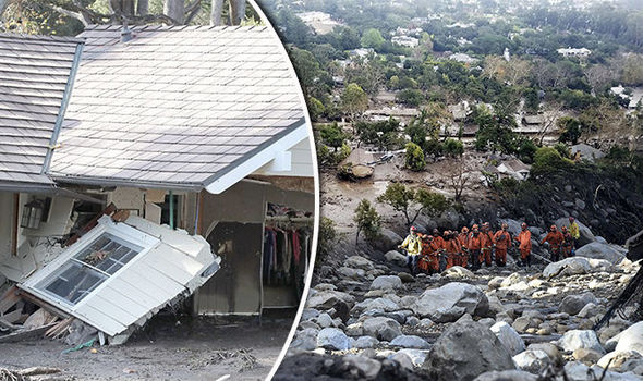 California mudslide: 17 dead, 24 missing and 300 trapped as mud river engulfs Montecito