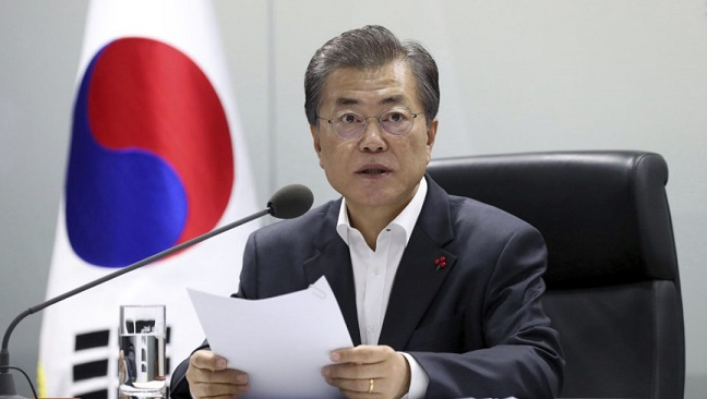 South Korea's president wants more talks with North to resolve nuclear standoff