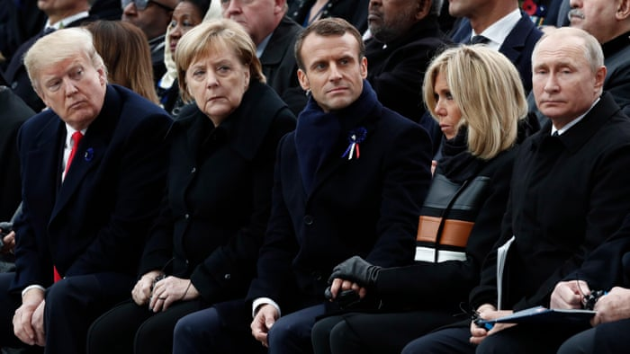 World leaders gather in Paris for Armistice Day – video