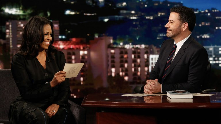 Jimmy Kimmel gets Michelle Obama to say things she couldnt say as First Lady