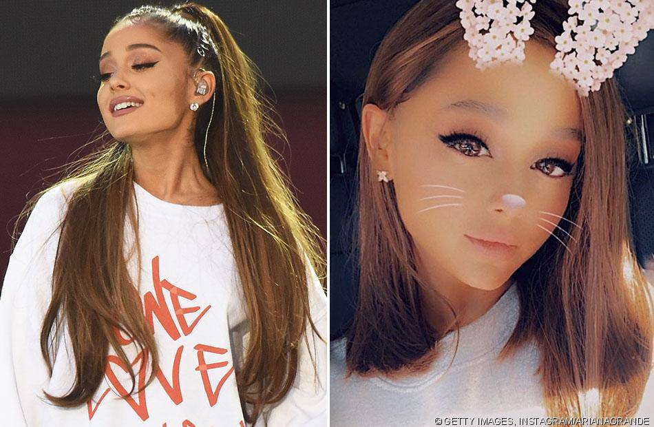 ariana grande debuts a new look and people have a lot of. Black Bedroom Furniture Sets. Home Design Ideas