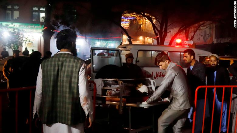 Kabul wedding hall blast kills 40, Afghan officials say