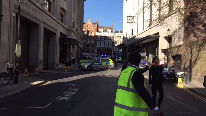 Two men arrested after stabbing at Sony Musics London HQ