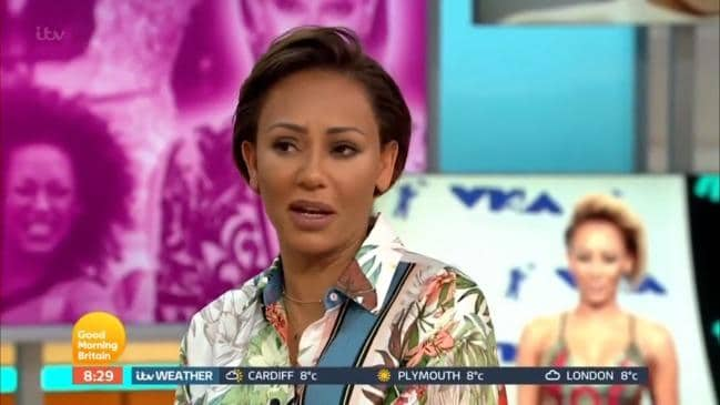 Mel B snaps during live TV interview