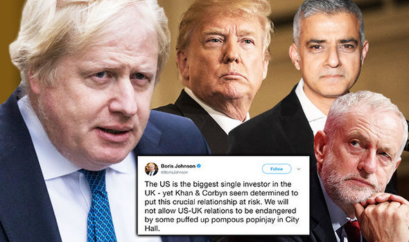 Boris hits back in Trump row: Corbyn and Khan putting US-UK relationship 'AT RISK'