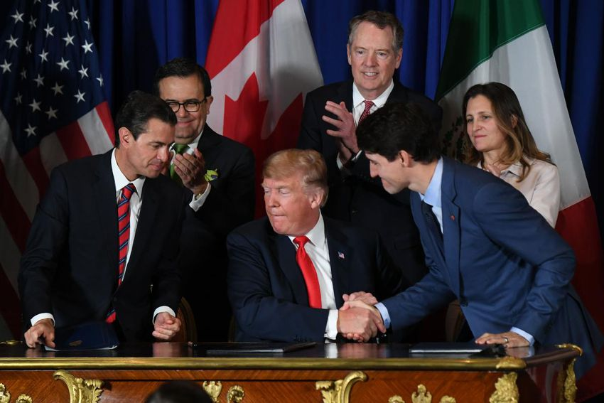 Canada, U.S., Mexico sign revised NAFTA deal Trump says 'changes the trade landscape forever'