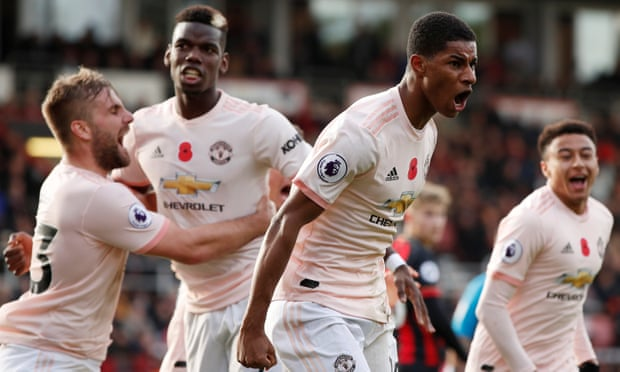Rashford's late winner seals Manchester United comeback at Bournemouth