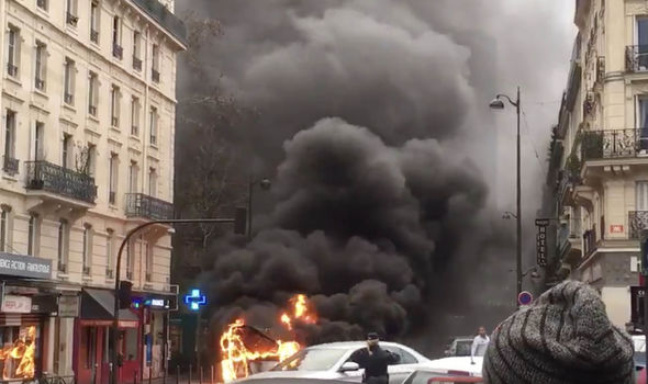 Paris bus fire - vehicle packed with 30 passengers bursts into flames in French capital