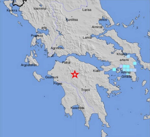 Greece earthquake MAP: Where have magnitude 4.3 Athens tremors struck in Greece?