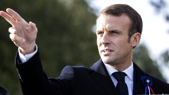 Emmanuel Macron: Six held in attack plot against French president