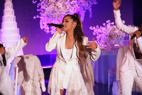 Oh, no! Ariana Grande trips while performing new song about famous exes on Ellen