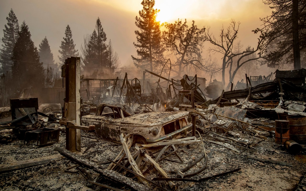 Camp Fire inferno: North California town of Paradise wiped out as thousands flee