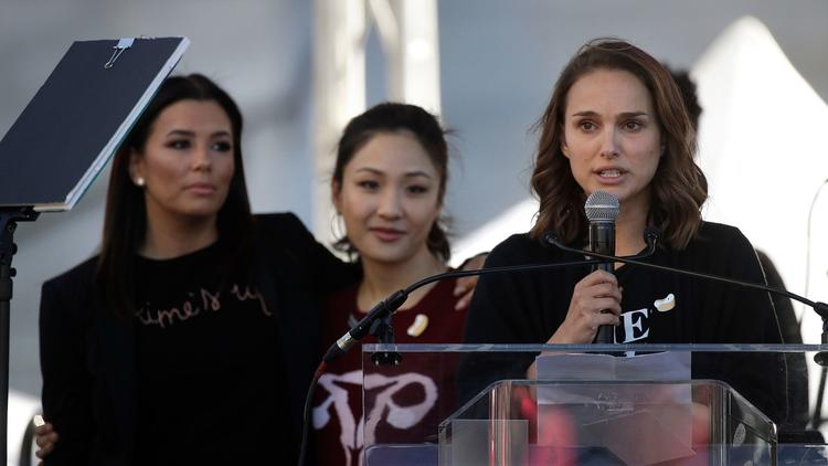 Natalie Portman, Alfre Woodard, Olivia Munn and more bring Times Up fire to Womens March in L.A.