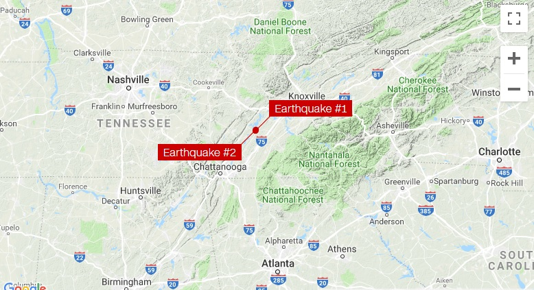 2 earthquakes shake Southeastern US