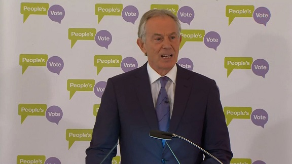 Tony Blair Says Brexiteers Fear A Second Referendum Based on Facts