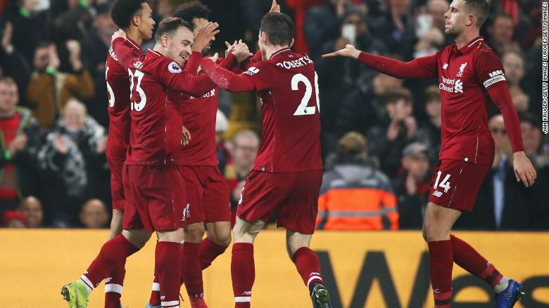 Liverpool goes six points clear in EPL as Man City loses at Leicester