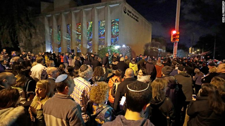 Pittsburgh synagogue holds its first Hanukkah ceremony since the Tree of Life massacre