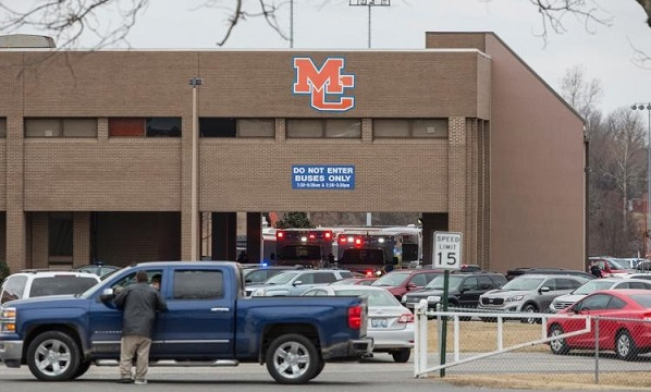 Two students dead, 12 others wounded by gunfire in Kentucky high school shooting